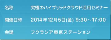 2014年12月5日(金) フクラシア東京ステーション